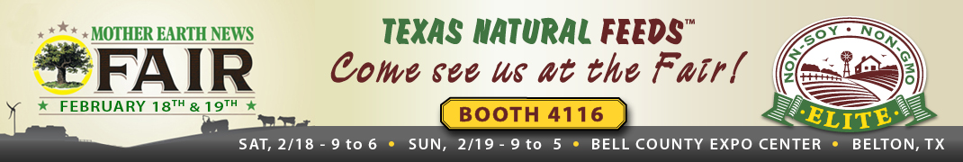 Texas Natural Feeds at the 2017 Mother Earth News Fair